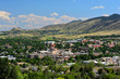 Downtown Golden, Colorado in the Rocky Mountains on a sunny day
