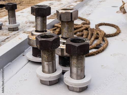 large bolts with nuts and rope | Buy Photos | AP Images | DetailView