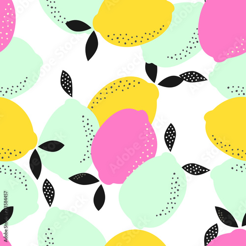 abstract pattern with lemons - 213584457