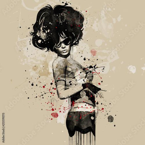 moda-kobieta-w-stylu-kabaretu-ilustracja-akwarela-moda-grunge