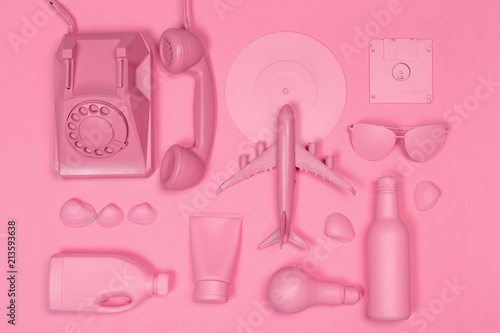Music flat lay objects - 213593638