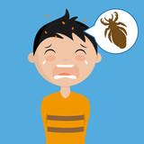 boy with head lice - 213599842