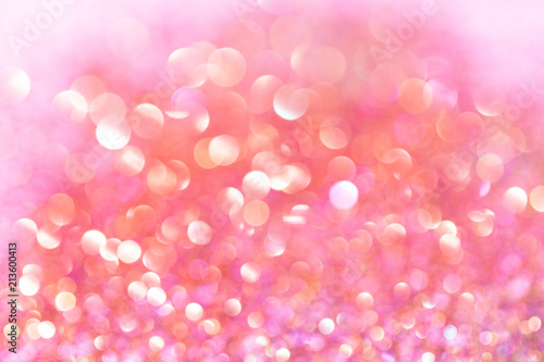 abstract orange,white and pink silver bokeh background with texture - 213600413