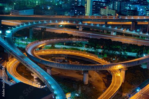 Canvas Nacht snelweg 高速道路