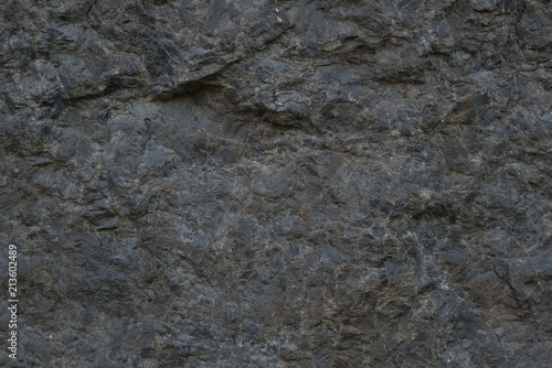 Aluminium Stenen texture of a black stone wall