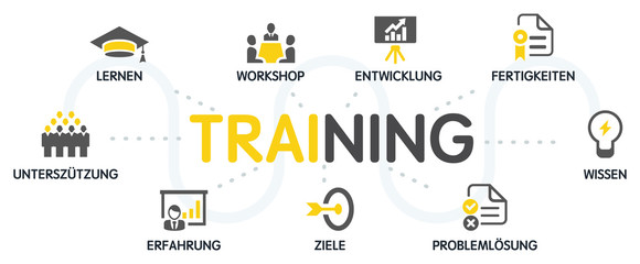 Training Vektor Grafik Icons Piktogramme