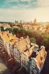 Old Town in Gdansk seen from viewing tower.