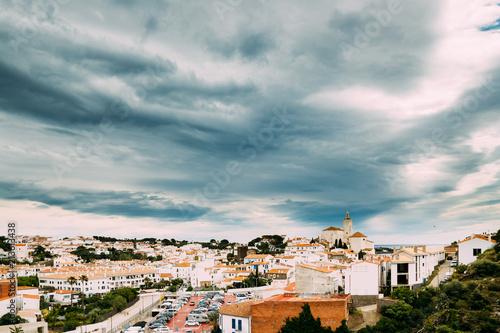 Aluminium Barcelona Cadaques Cityscape. Town In The Province Of Girona, Catalonia, Spain