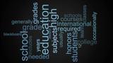 An education word cloud animation - 213613888