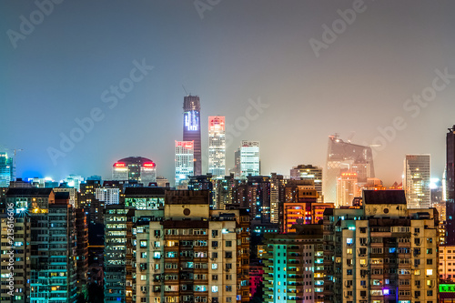 Foto Spatwand Peking China, Beijing Central Business District(CBD)