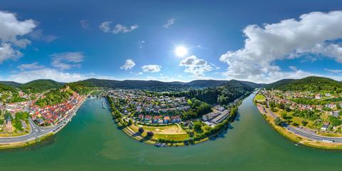 360° Luftbild VR Panorama Hirschhorn am Neckar