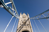 Looking up at Tower Bridge, London - 213625456
