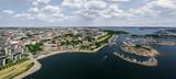 Panoramic aerial view of Helsinki, Finland