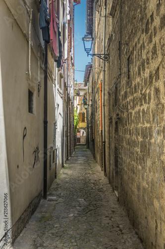 Aluminium Smalle straatjes Italy 2018 summer