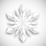 płatek śniegu origami - 213628412