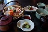 Japanese food served in a restaurant in Kobe, Japan - 213630867
