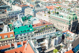 View from St. Stephen's Cathedral over Stephansplatz square in Vienna, capital of Austria on sunny day - 213631461