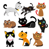 cat vector collection design - 213635251