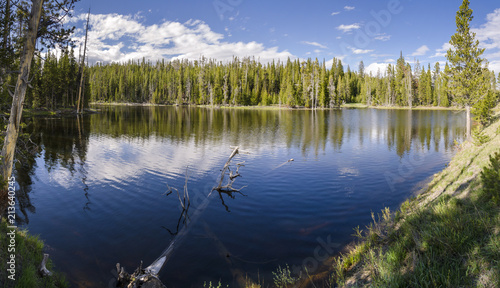 grasslands, lakes and rivers in Yellowstone National Park in Wyoming