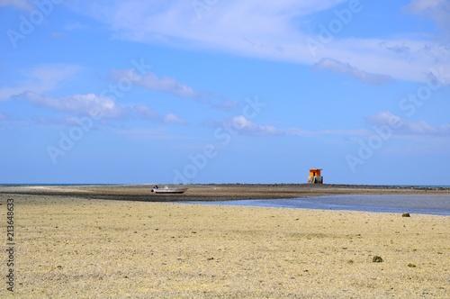 Fotobehang Beige Beautiful beach and coast on a sunny day in Penghu, Taiwan