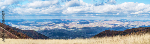 In the top of mountain. Nature background. - 213649257