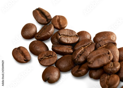 Foto Spatwand Koffiebonen Brown Coffee Cup Beans collage