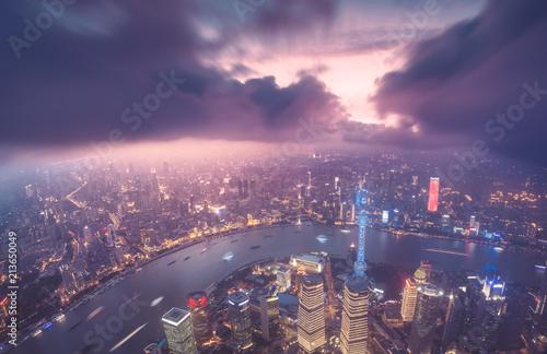 Foto Spatwand Shanghai Shanghai city skyline