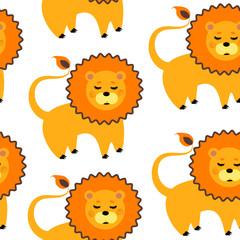 cartoon lion pattern © alexa_travel