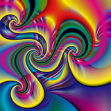 Abstract fractal background in a bright colors for design - 213654009