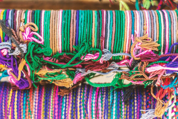 Cute rainbow colored yarn crafts © UFT