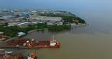 aerial view of industries estate in samuthprakran outskirt bangkok thailand - 213655449