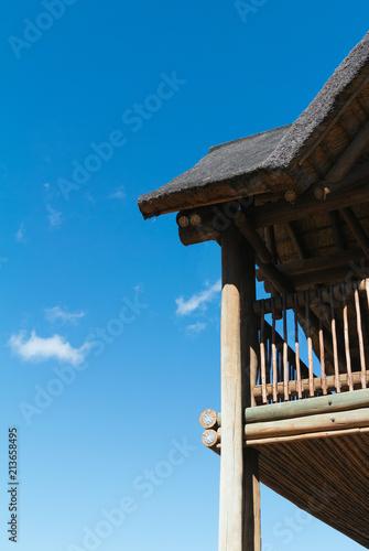 Foto Murales Thatch roof bungalo