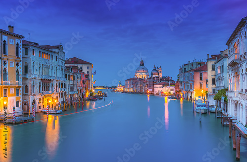 Blue hour at Canale Grande in Venice  - 213658640