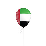 United Arab Emirates flag balloon on a string. 3D Rendering