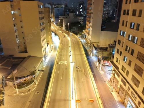 Canvas Nacht snelweg Elevado Presidente João Goulart