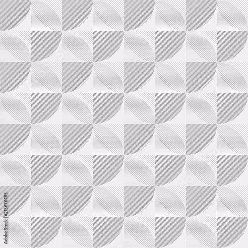Abstract seamless background with a pattern of lines and circles. Vector pattern from geometric shapes. - 213676495