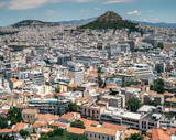 Bird's eye view on Athens, Greece. - 213677051