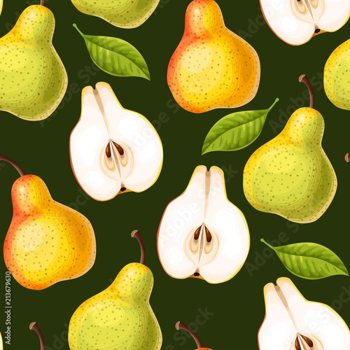Seamless pattern with pears - 213679630