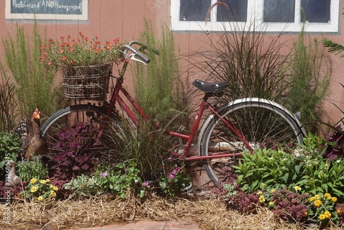 Aluminium Fiets Old rusty bike