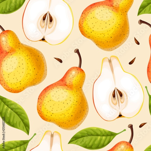 Seamless pattern with pears - 213682222