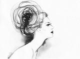 beautiful woman. fashion illustration. watercolor painting - 213698675
