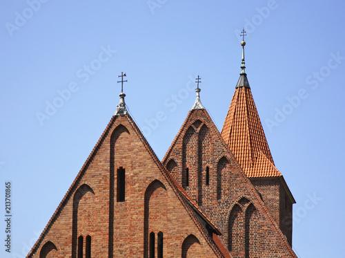 Foto Spatwand Krakau Church of the Holy Cross in Kazimierz. Krakow. Poland