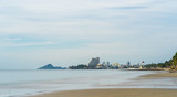 Hua Hin city beach,Thailand in the morning - 213718212