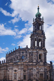 Church of the Holy Cross is the largest church in Saxony.  Dresden, Germany. - 213719682