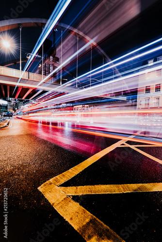 Canvas Nacht snelweg Shoreditch High Street, boxpark, bridge in London