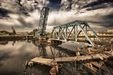 Old railroad drawbridge - 213721031