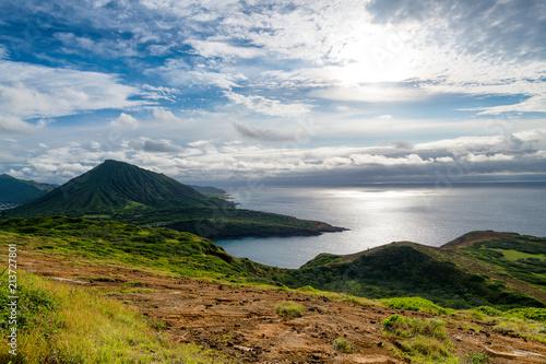Beautiful landscapes in Oahu island Hawaii