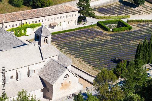 Canvas Lavendel Abbaye de Sénanque
