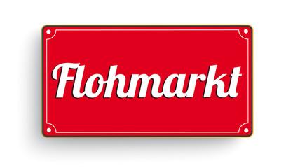 Flohmarkt Rotes Schild