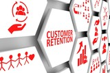 CUSTOMER RETENTION concept cell background 3d illustration